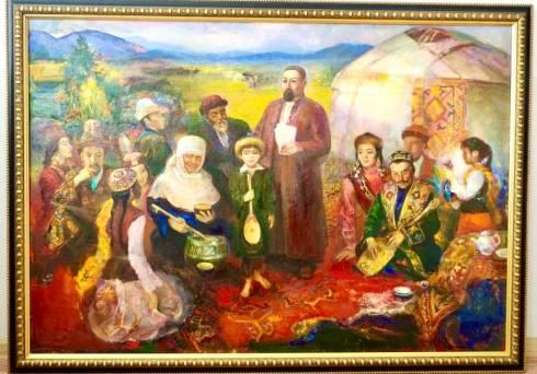 Картину «Слово Абая» воспроизвели вживую в карагандинском музее