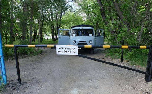 На въездах в Центральный парк Караганды устанавливают шлагбаумы