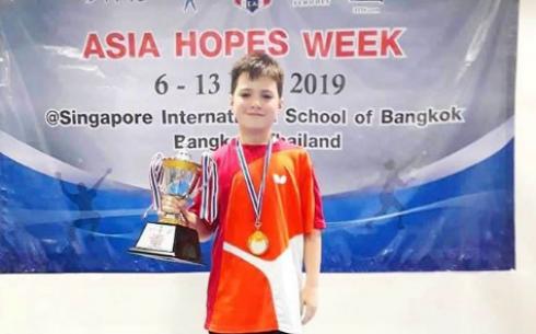 Юный карагандинский теннисист выиграл путевку на мировой турнир «ITTF World Hopes Week and Challenge»