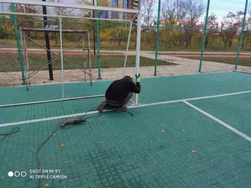 Спортивную площадку на территории парка в Караганде восстановили за сутки