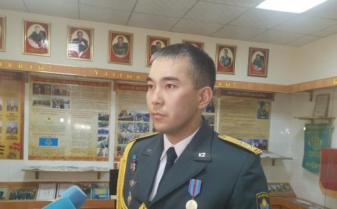 В Караганде наградили офицера Национальной гвардии
