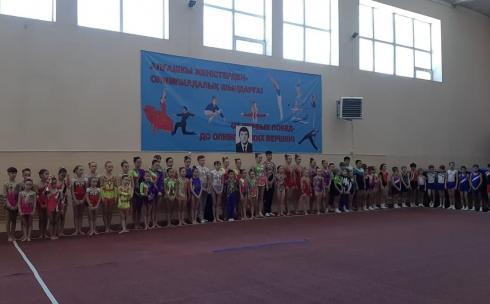 В Караганде проходит областной турнир по спортивной акробатике и батутной гимнастике