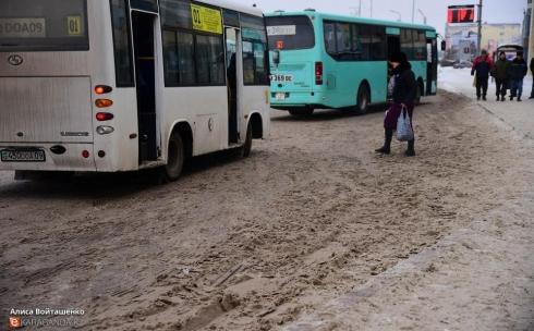 В Караганде, несмотря на погодные условия, движение городского транспорта будет обеспечено до вечера