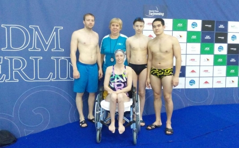 Спортсмены с ограниченными возможностями из Караганды завоевали 17 медалей на этапе Кубка мира по плаванию