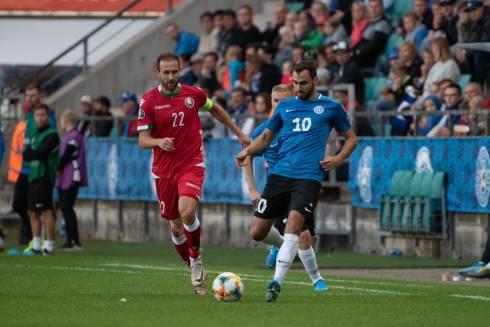 Зенев провел матч за сборную Эстонии