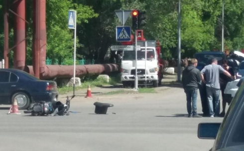В Караганде произошло ДТП с участием мотоциклиста