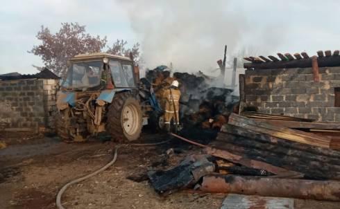 В Карагандинской области зафиксированы 5 крупных случаев возгорания сена