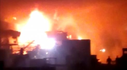 Пожар вспыхнул в одном из цехов