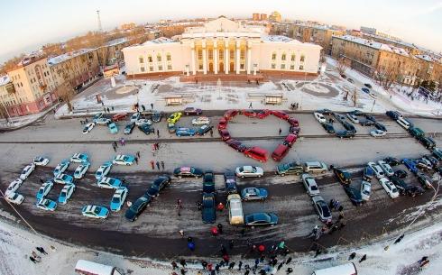 Автолюбители поздравили горожан с юбилеем Караганды