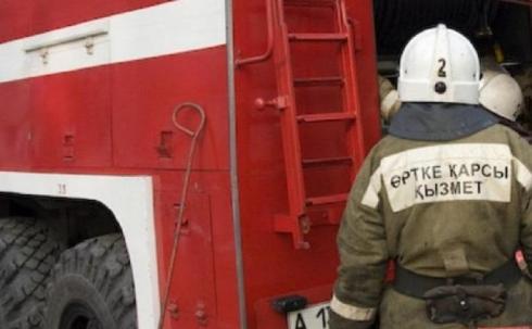 В школе Темиртау произошел пожар