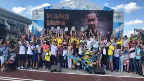 Известные спортсмены пришли поддержать победителей челленджа