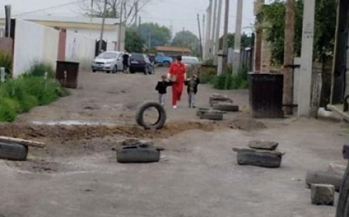 Жители Майкудука жалуются на бездорожье
