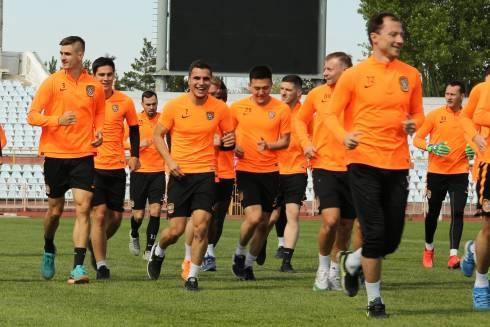 Карагандинская команда провела тренировку на стадионе «Шахтер»
