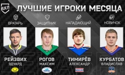 Игрок «Сарыарки» — лучший голкипер месяца в ВХЛ