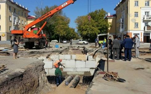 Ускоренными темпами ведутся работы по реконструкции карагандинских теплосетей