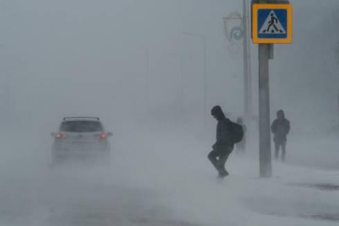 Трасса Караганда – Темиртау закрыта из-за сильной метели