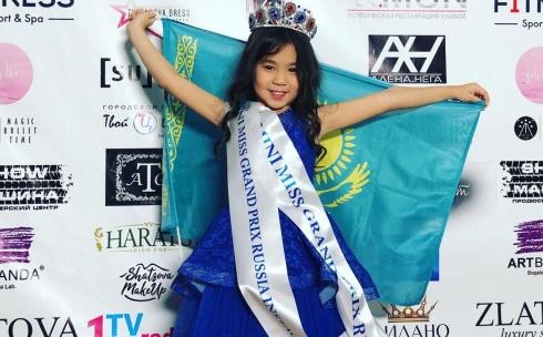 Маленькая карагандинка завоевала главный титул на конкурсе красоты в Москве