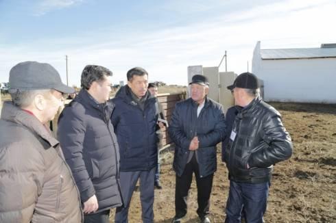 Женис Касымбек посетил Жанааркинский район и встретился с сельчанами