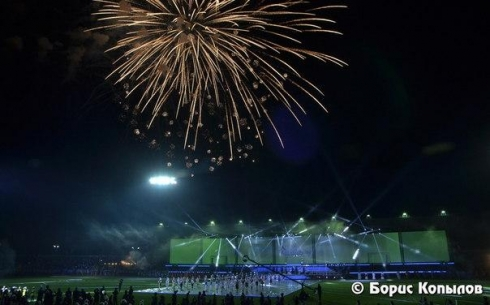 Праздник ко Дню шахтера на стадионе. Фото