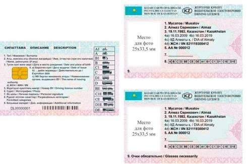 Водительские удостоверения нового образца в Казахстане начнут выдавать с 2020 года