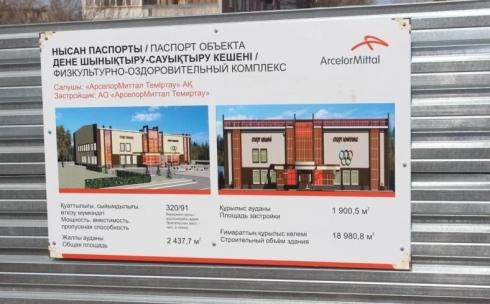 В Темиртау в скором времени начнётся строительство физкультурно-оздоровительного комплекса