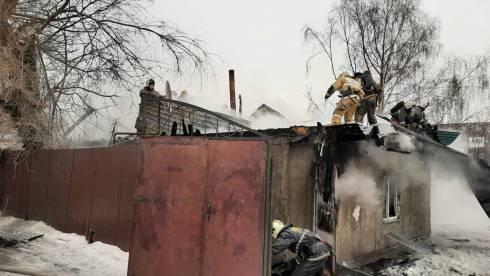 В Караганде сгорел жилой дом по улице Гудермесская