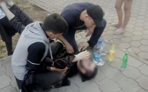 В Центральном парке Караганды спасли человека