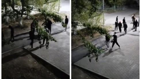 Жестокое избиение толпой сняли очевидцы в Темиртау