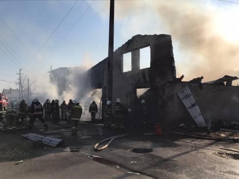 В пожаре на улице Балхашская в Караганде нет пострадавших среди граждан