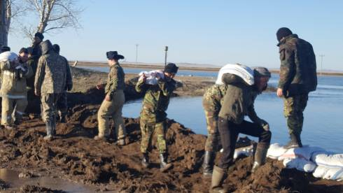 В Карагандинской области продолжаются противопаводковые мероприятия