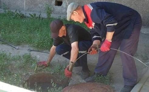 В Абае оперативно устранили разлив сточных вод