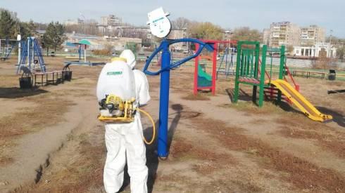 Масштабная кампания по дезинфекции общественных мест возобновилась в Темиртау