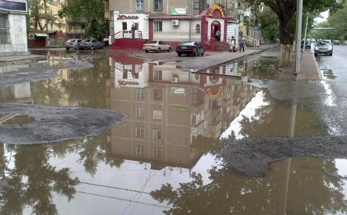 Караганда во время дождя вся залита водой