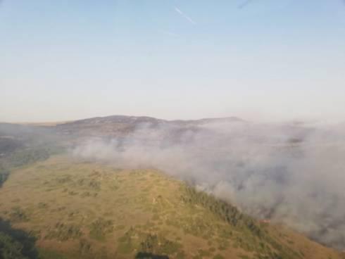 Площадь пожара в Нацпарке под Карагандой достигла 2,5 тыс. га