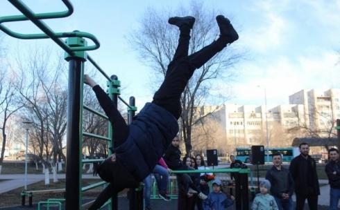 В Караганде открыли сезон спортивных площадок StreetWorkout