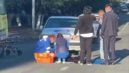 Женщину и ребенка сбили в Жезказгане