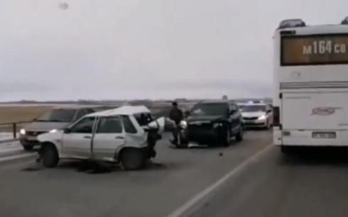 В массовом ДТП на автодороге Караганда-Абай никто не пострадал